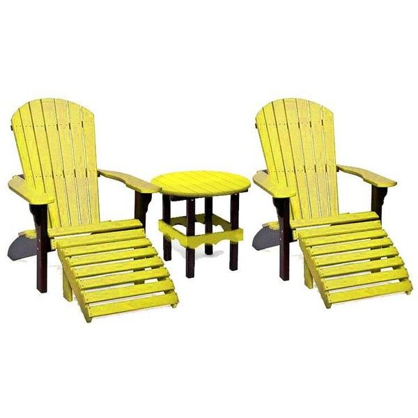 Amish Poly Wood Sports Team Patio Furniture Set ($735) ❤ Liked On Polyvore  Featuring Home, Outdoors, Patio Furniture, Wood Patio Furniture, Amish  Outdoor ...