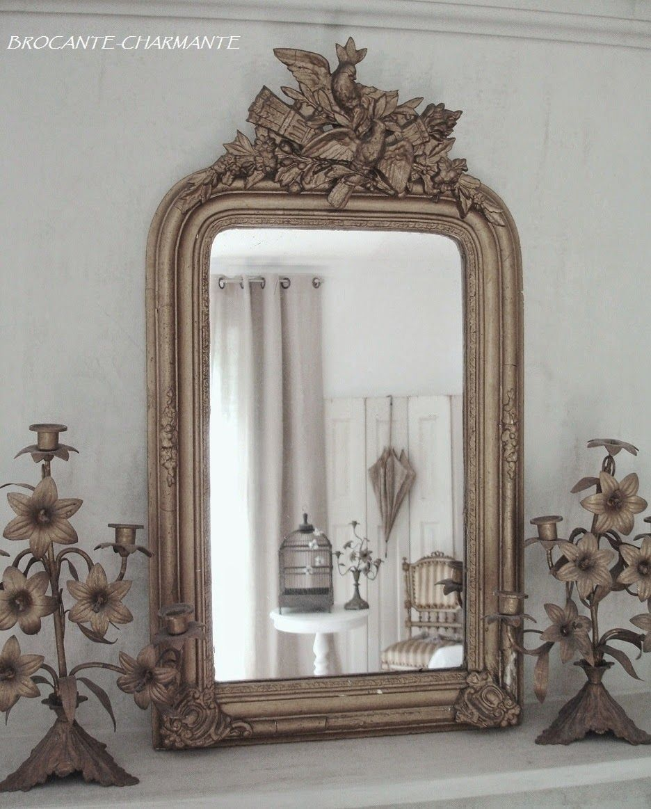 Impressionen French Chic Beautiful Mirrors Antiqued Candle