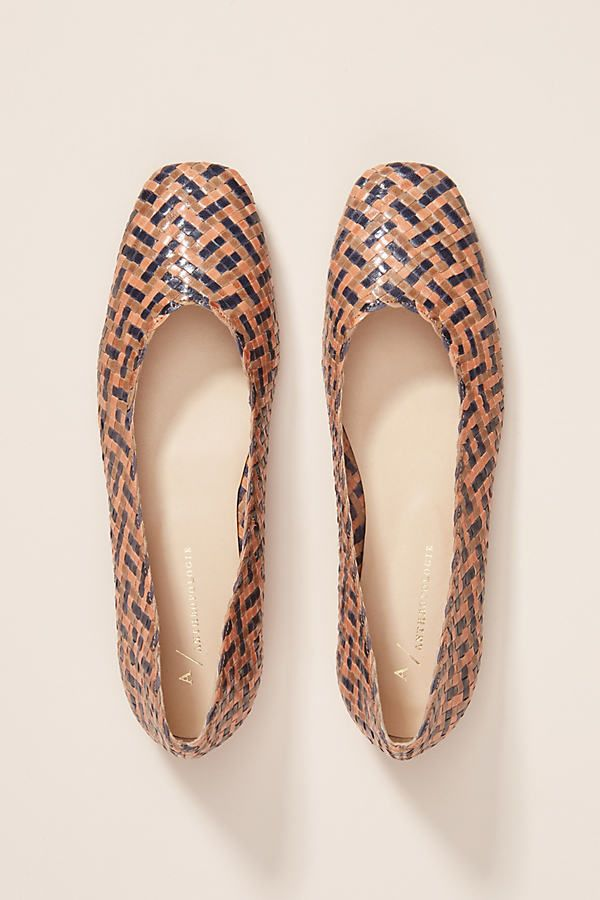 Beth Woven Flats by Anthropologie in Blue Size: 39,