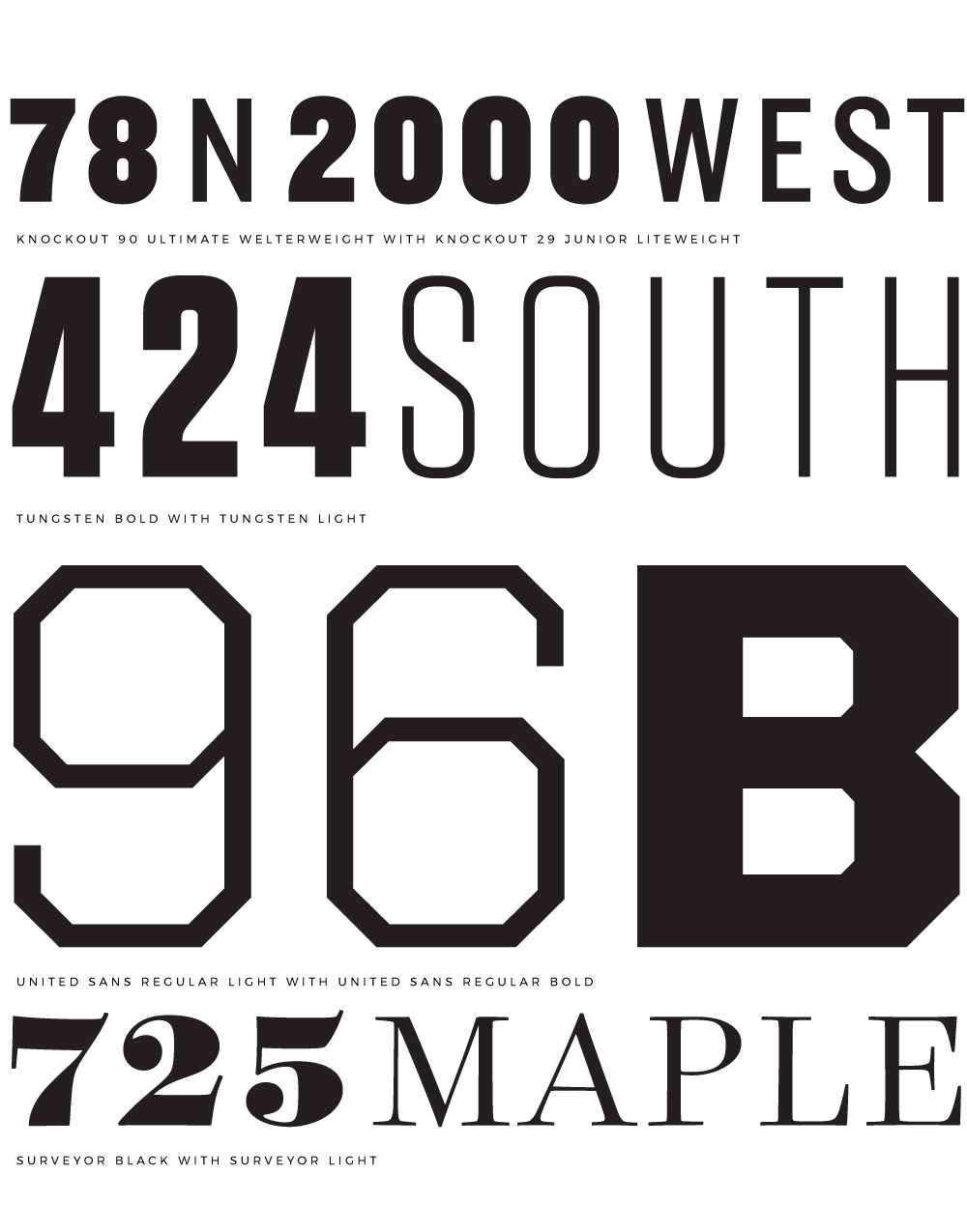 Pairing Fonts Is Easy    | House numbers   signs   logos