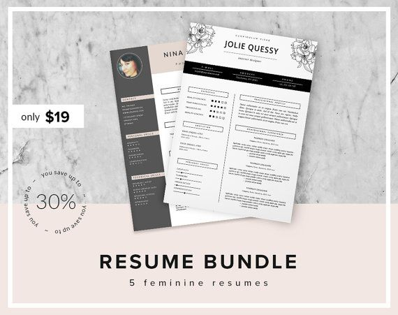 Resume Bundle 30 OFF Fashion Resume Template by ThisPaperFox - eye catching resume templates
