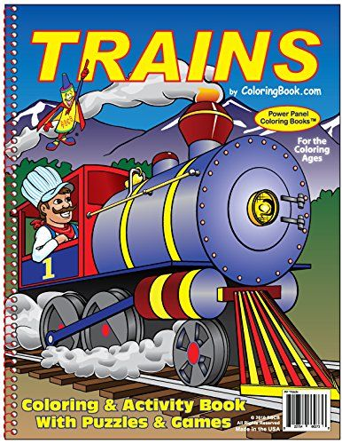 Trains Coloring Book 8 5x11 By Coloringbook Com Http Www Amazon Com Dp 1935266276 Ref Cm Sw R Pi Dp 1elqub1ep2p1g Coloring Books Books Color