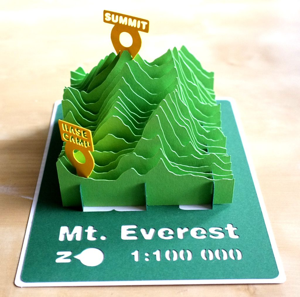 mt everest d paper model d paper terrain models mt everest 3d paper model