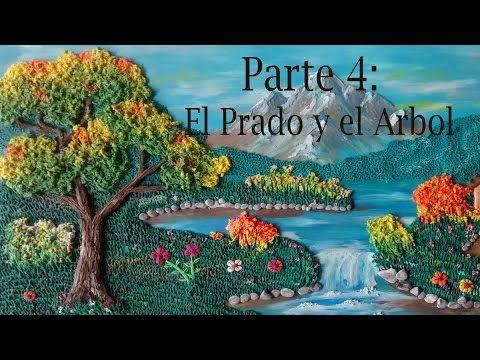 Como Hacer Un Paisaje En Plastilina 4 El Prado Y El Arbol Youtube Plastilina Paisajes Como Hacer Cuadros
