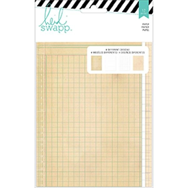 Heidi Swapp Memory Planner Double-Sided Paper 5in X 7in
