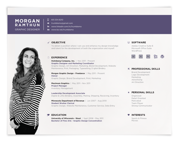 landscape resume format  creative resumes  creative resume