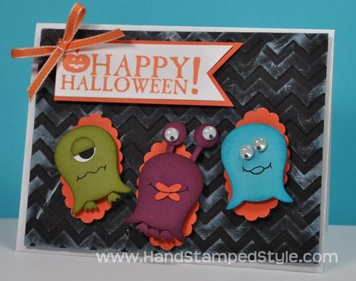 super simple owl punch art halloween card - Handmade Halloween Cards Pinterest