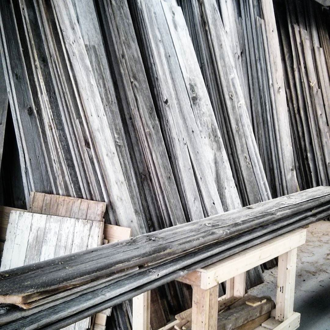 Tons of premium reclaimed grey barn board available at all