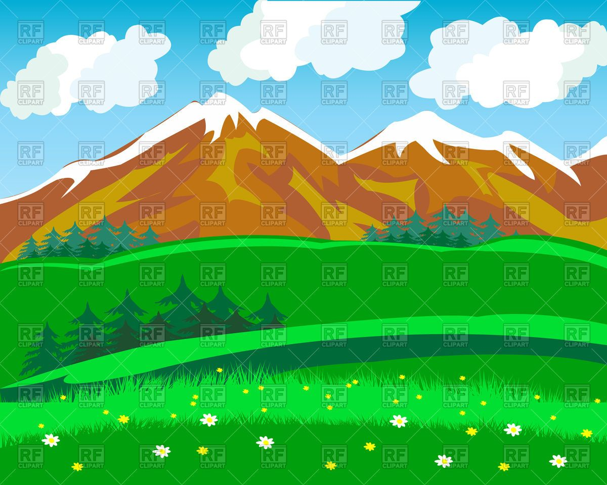 Mountain Clip Art Free Summer In Mountains 94038 Download Royalty Free Vector Clipart Eps Landscape Background Vector Artwork Mountain Clipart