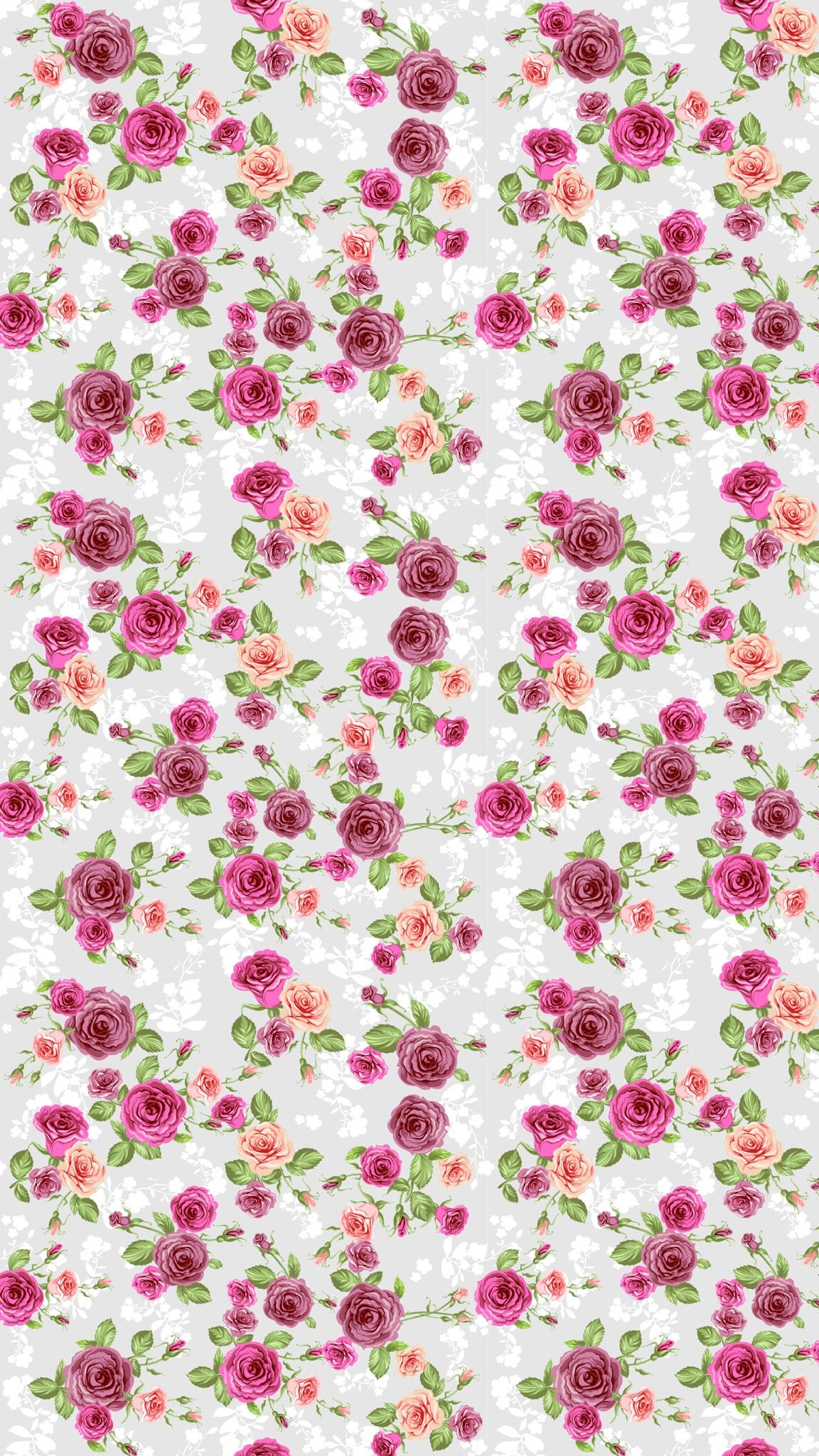 Flowers And Blur Polka Dots Vintage Flowers Wallpaper Flower Wallpaper Floral Wallpaper