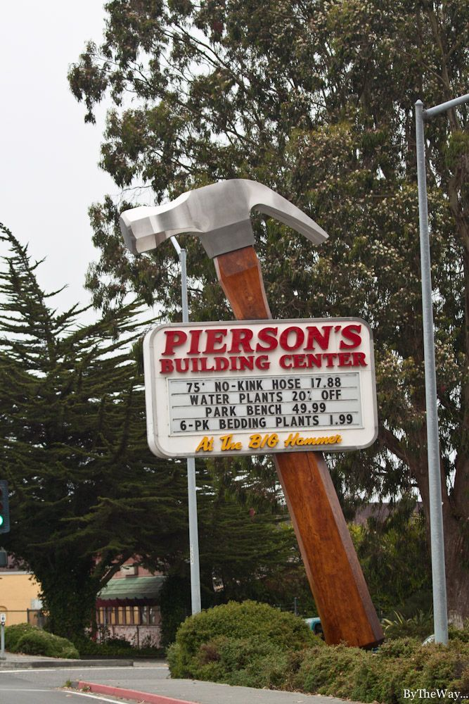Giant Hammer sign  Eureka, California // never know what you'll find on the road!