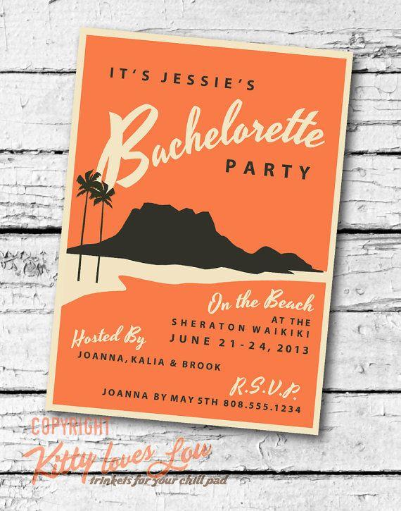 printable bachelorette hens party invitation digital pdf wedding
