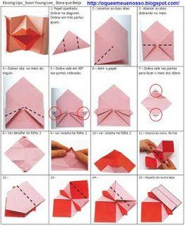 O QUE É MEU É NOSSO: Origami com Movimento (Action) - Boca que Beija (Kissing Lips) - Soon Young Lee