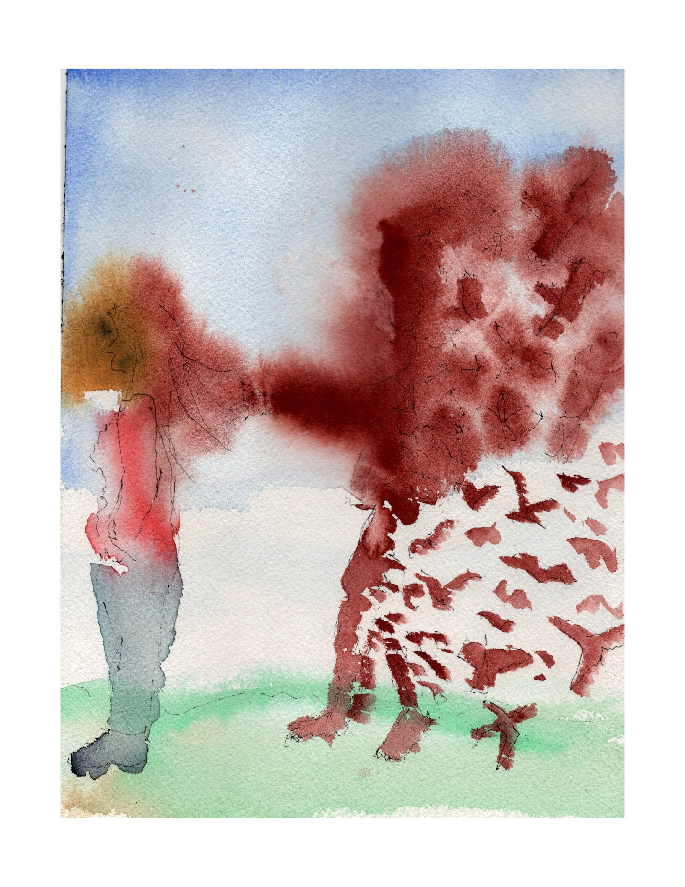 Original Signed Watercolor Painting The Breakup Etsy Painting Watercolor Paintings Watercolor