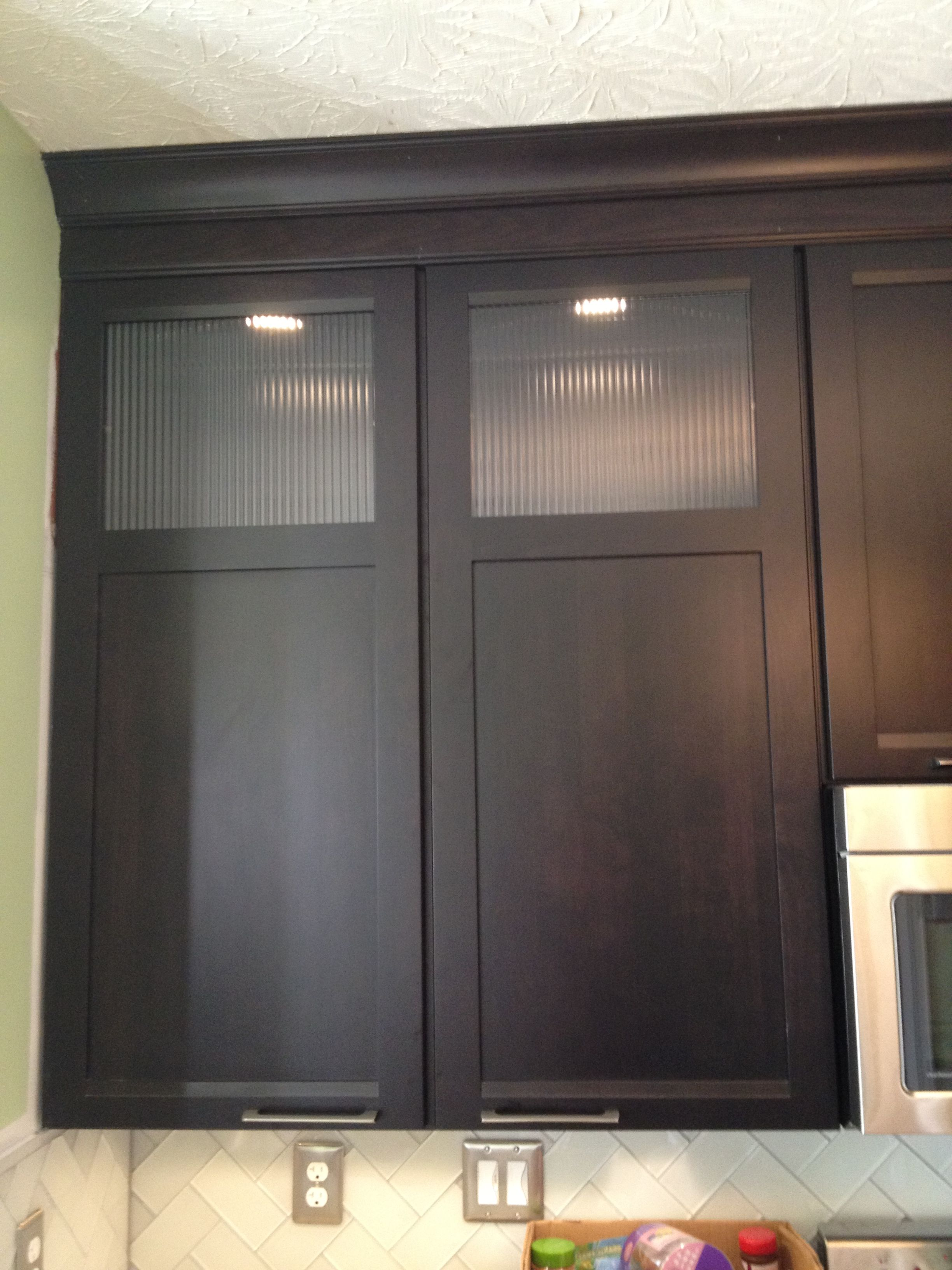 Maple Cabinets With Lighting; Handles Placed Horizontally For A More  Modern, Clean Look;