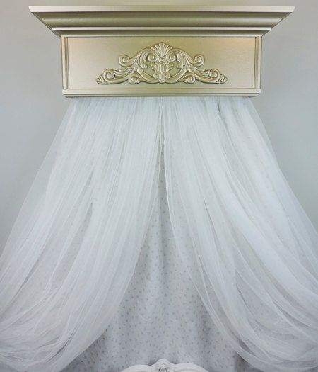 Tulle Sheers Canopy Sheers Window treatments by TheChicDecorShop