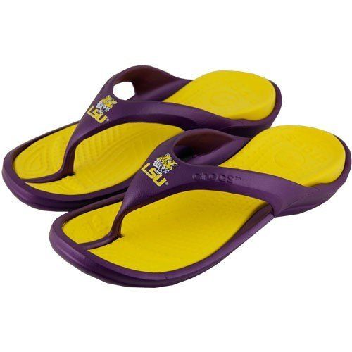 cheap sale with credit card Men's LSU Tigers Striped Flip ... Flop Sandals newest for sale wyPGinRaV