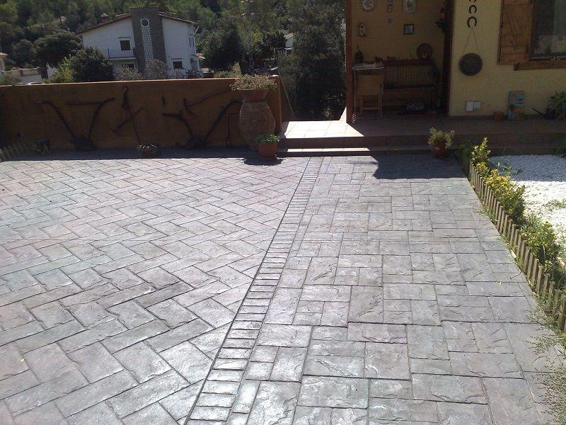 Adoquin espiga decor hormigon impreso pavimento impreso y pavimento - Pavimento jardin ...