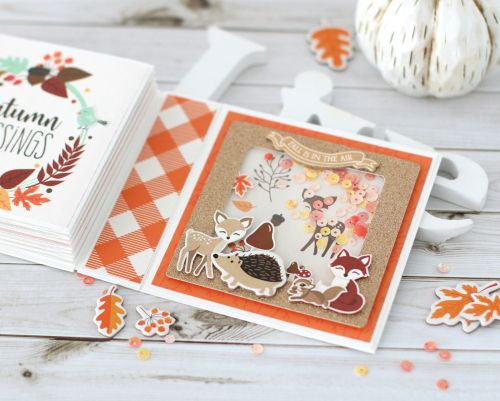 Hello Fall Mini Accordion Album by Anya Lunchenko for #EchoParkPaper featuring the My Favorite Fall Collection #hellofall
