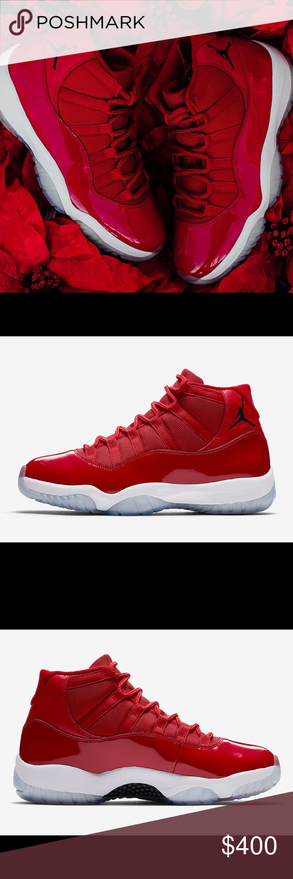 "795c24661445 AIR JORDAN 11 ""WIN LIKE  96"" The ""Win Like  96"" colorway is sure to be one  of the most notable releases of this holiday season. It features a vibrant  red ..."