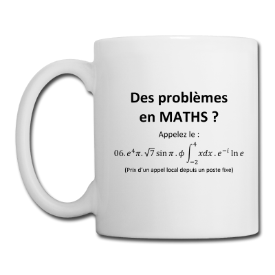 mug tasse humour maths des probl mes en maths tasse cadeau pour ma tresse prof animateur. Black Bedroom Furniture Sets. Home Design Ideas