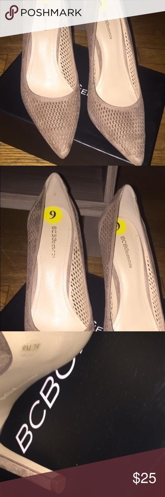 BCBG NWT new in box, mesh suede beige heel BCBGeneration Shoes Heels