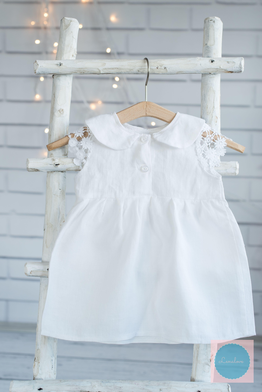 2f2f44d32cf Taufkleid taufset baby christening dress  dress linen  taufkleid aus  leinen  weisses baby kleid