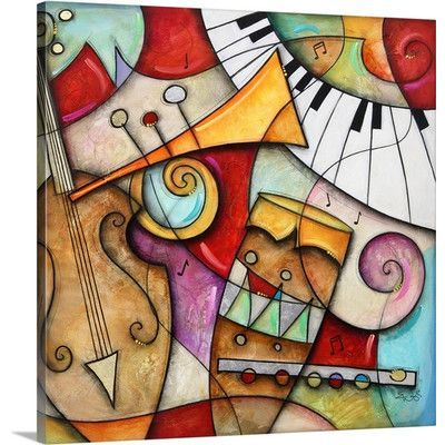 Canvas On Demand 'Jazz Makers II (Trumpet)' by Eric Waugh Painting Print on Canvas Size: