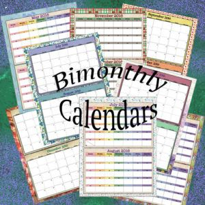 bimonthly calendars for 2016 2 designs links to more printables