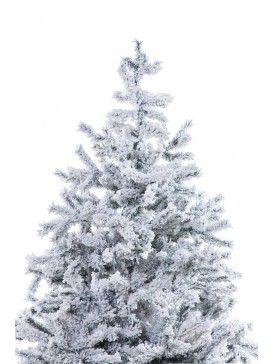 Albero di natale innevato abete monviso effetto nevicato for Alberi natale artificiali