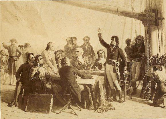 A Bord De L Orient Le General Bonaparte S Entretient Avec Les Scientifiques De L Expedition Napoleon Bonaparte Napoleon Josephine