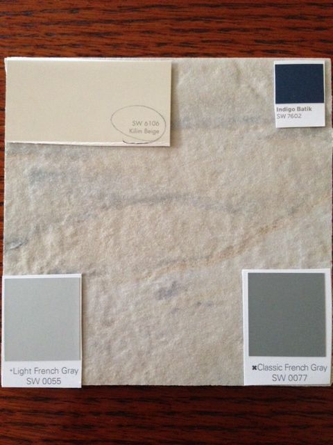 Here Is Our Tile With My Chosen Paint Colors From Sherwin