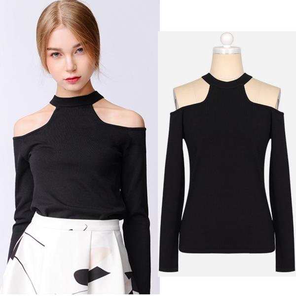 Abollria Camisetas Mangas Cortas Cuello Alto Elegantes para Mujer Shirts y Tops para Primavera Oto/ño Invierno