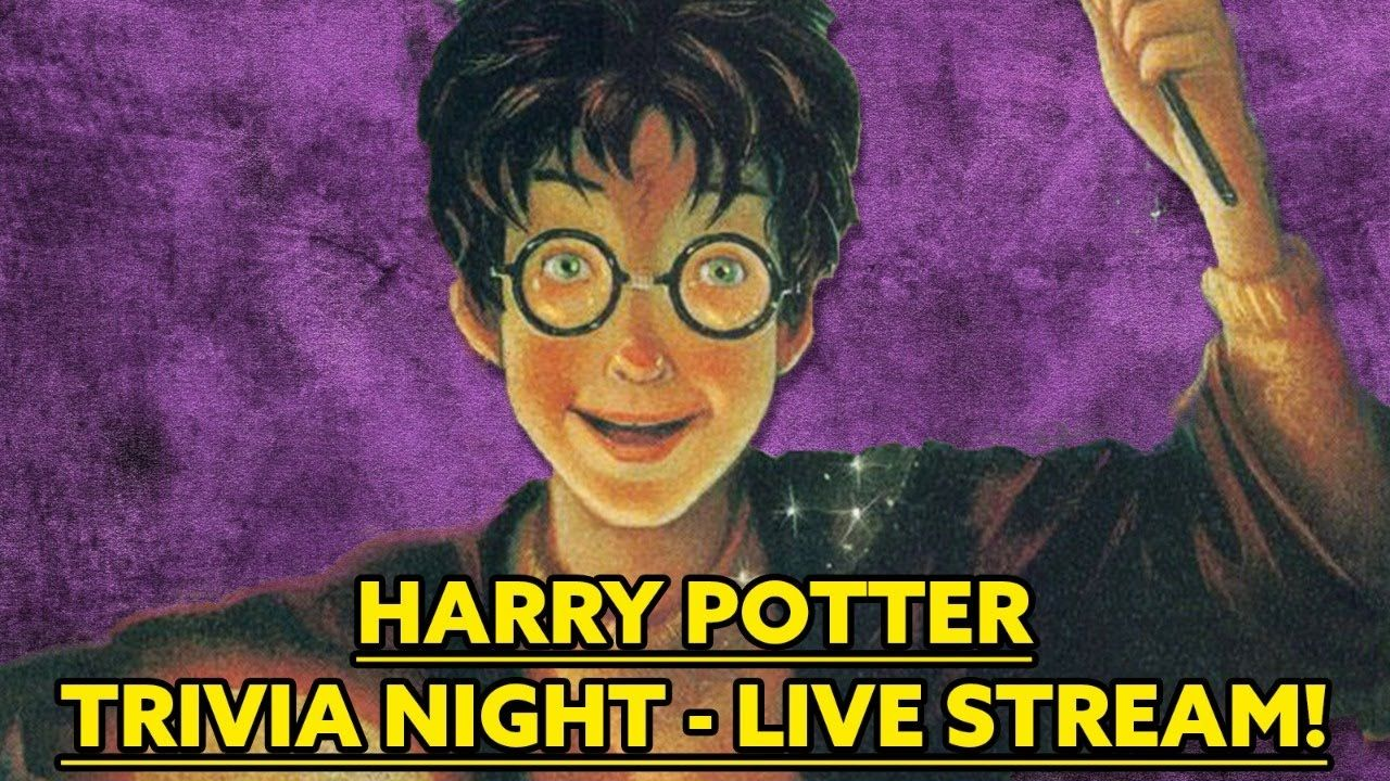 Harry Potter Trivia Night Live Stream Trivia Night Harry Potter Facts Harry Potter