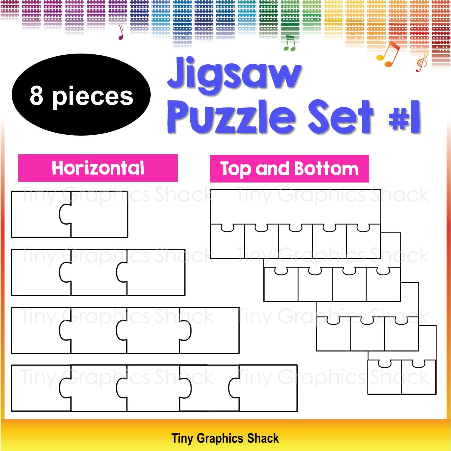 Jigsaw Puzzle Blank Template Set 1