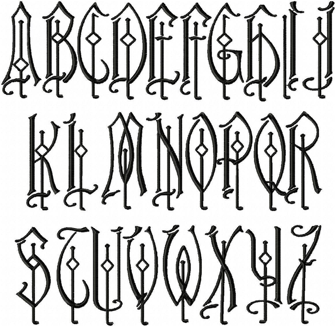 Rucker Monogram Font