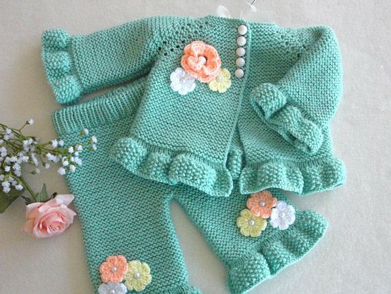 Photo of Stricken Muster Baby Strickjacke Baby Hose Baby Mädchen Outfit Muster Baby Jack…