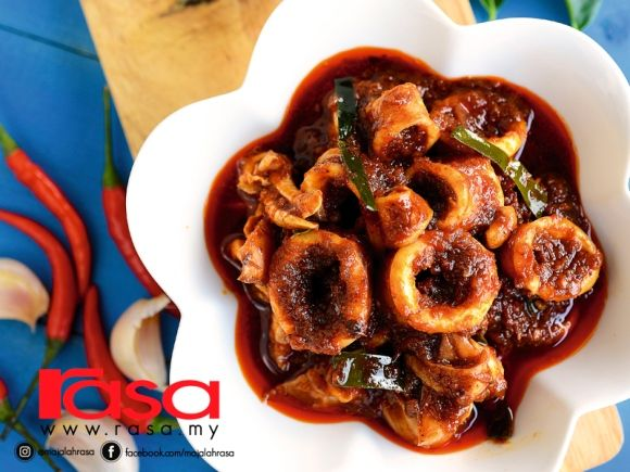 Sambal Sotong Limau Purut Seafood Recipes Fish And Seafood Seafood