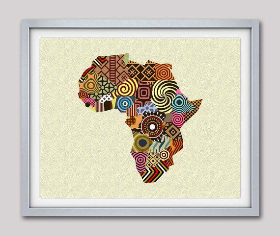 African map art wall decor also woman afrocentric iqstudio rh pinterest
