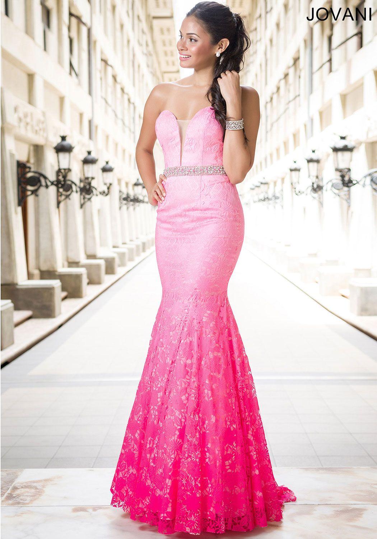 Pink Ombre Strapless Dress 29126 | My dream wedding! | Pinterest
