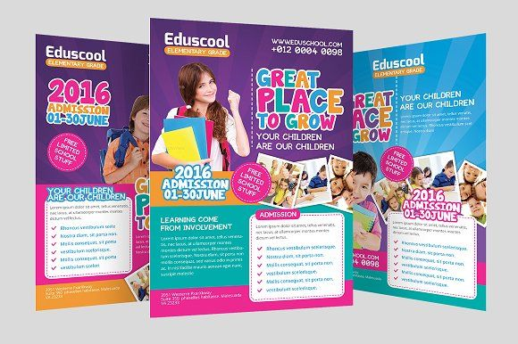 Elementary School Promotion Flyer By Graphicstall On Creativemarket