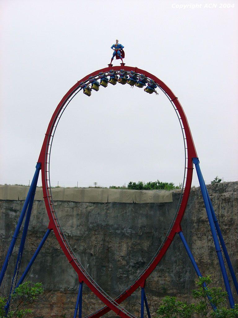Acn Photo Gallery Six Flags Fiesta Texas Superman Krypton Six Flags Fiesta Texas Thrill Ride Roller Coaster