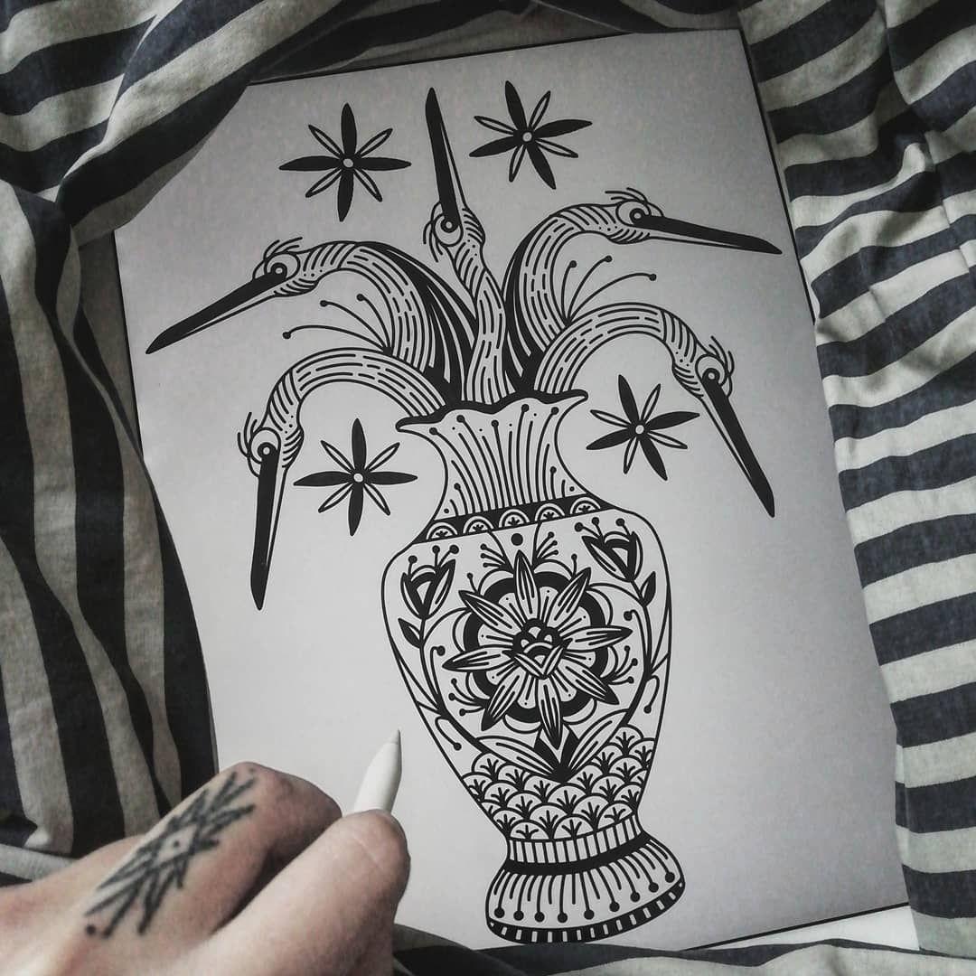 Там должны были быть цветы, но там цапли. Вот и все. 🤙 Полный available 🕊️ . . . #art #tattoo #tattoominsk #tattooartist #graphic #linework #tttpublishing #inked #ink #btattooing #blxckink #ttism #tattooart #tattoosketch #tattoodesign #rekatattooplace #rekatattoominsk #lofisocialclub