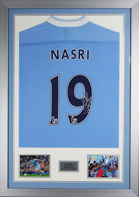 Hand Signed Samir Nasri Man City Shirt - Framed with COA ...