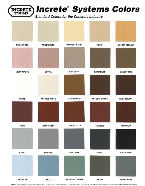 More Concrete Stain Colors With