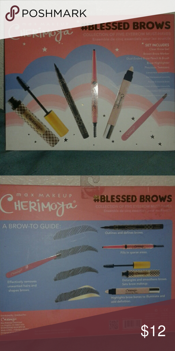 Max Makeup Cherimoya Blessed Brows 5pc eyebrow must haves