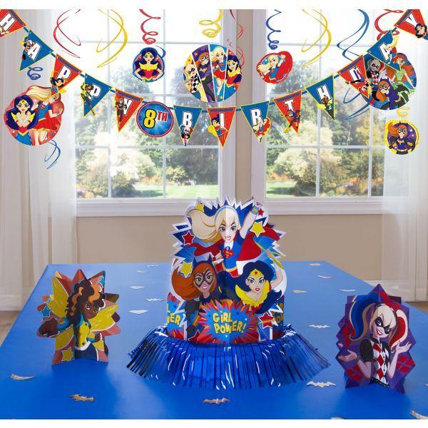 DC Superhero Girls Decoration Kit Party Decorations Birthday 9th Parties