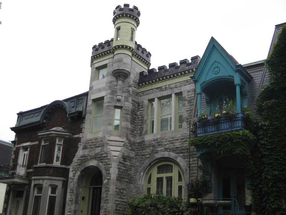 Square Saint-Louis - Montréal, QC, Canada. Gorgeous homes line the park.
