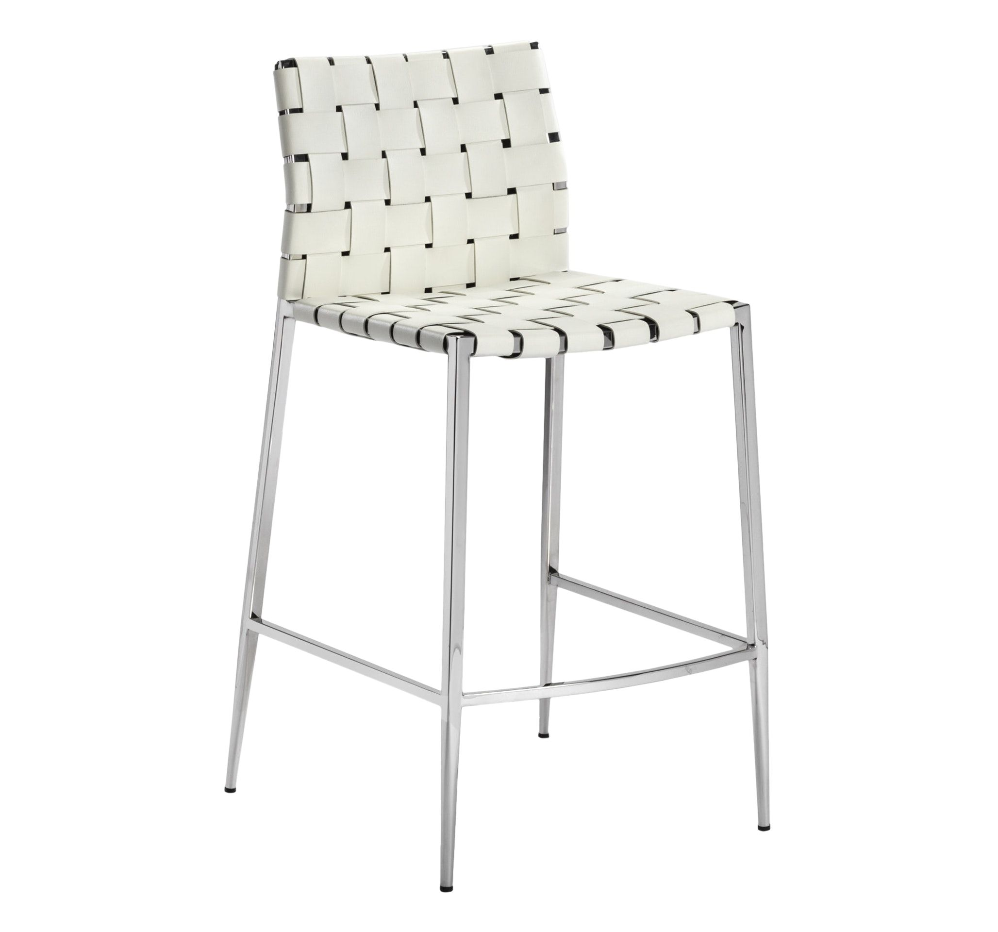Logan Counter Stool White By Interlude Home Counter Stools Furniture Leather Counter Stools