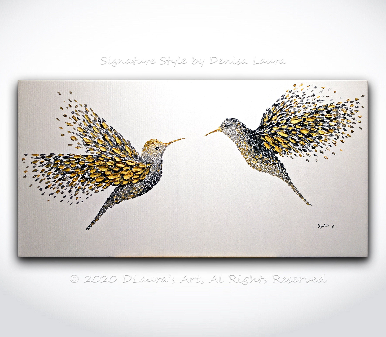 Canvas Print Photo Picture Image Animals hummingbirds Watercolour bird 100x50